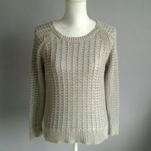 LOFT Metallic Open Knit Sweater
